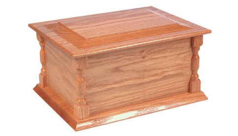 The Bede Solid Oak Casket